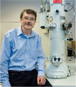 Alex Zettl, a physicist who holds joint appointments with Berkeley Lab and UC Berkeley, led the first live recording of carbon atoms in action at graphene edge. His previous accomplishments included the first fully functional radio from a single carbon nanotube, and a nanoscale mass sensor that can weigh individual atoms.