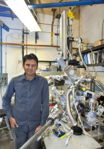 Prashant Jain, a member of Paul Alivisatos' research group, was part of a collaboration that achieved plasmonic properties  in doped semiconductor quantum dots. (Photo by Roy Kaltschmidt, Berkeley Lab Public Affairs)
