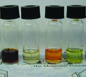 Vials of ligand-free nanocrystals dispersed in solution for various applications, including energy storage, smart windows and LEDs.
