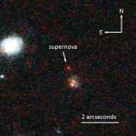 "Supernova SCP-0401, nicknamed ""Mingus,"" was collected by the Hubble Space Telescope in 2004 but could not be positively identified until after the installation of a new camera that serendipitously acquired more data. (Photo Space Telescope Science Institute)"