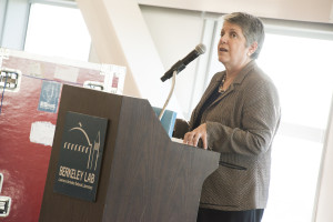 UC President Janet Napolitano at the Shyh Wang Hall opening.